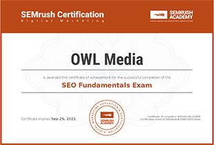 Certificate seo fundamentals
