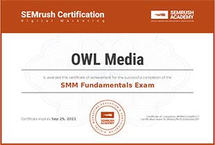 Certificate smm fundamentals